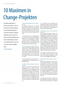 10 Maximen in Change-Projekten