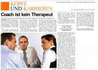 Coach ist kein Therapeut