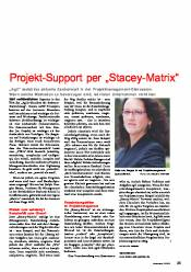 "Projekt-Support per ""Stacey-Matrix"""