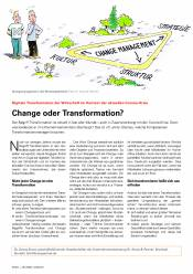 Change oder Transformation?