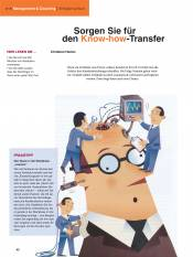 Sorgen Sie für den Know-how-Transfer