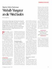 Weshalb Youngster an die Wand laufen